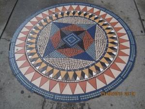 Mosaico nas calçadas em Vancouver